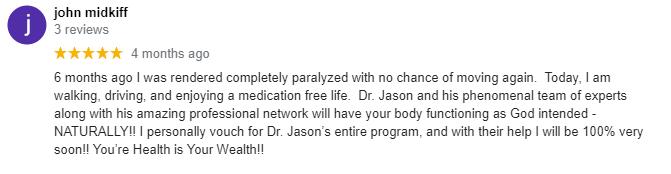 Chiropractic Covington LA Limitless Chiropractic Testimonial